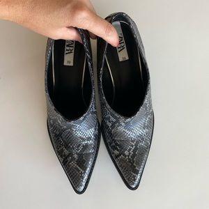 Animal Snake Print Cowboy Heeled Ankle New Booties